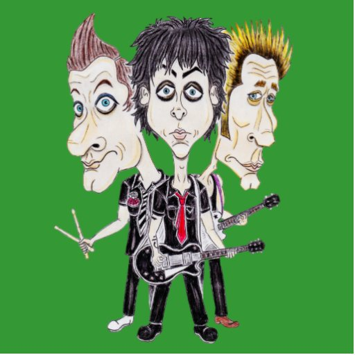 Punk Rock Band Funny Caricature Drawing Sculpture Cut Outs