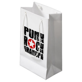 Punk Rock Grandpa Small Gift Bag