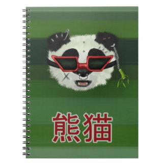 Punk Rocker Panda Notebook