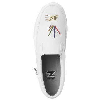 Punk Room Diffuser Men's Slip On Shoes Printed Shoes