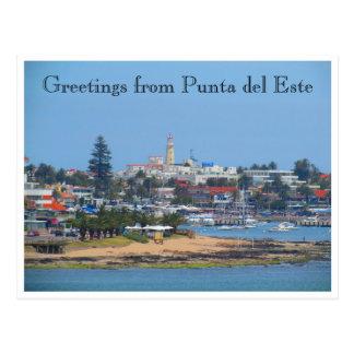punta del este greetings postcard