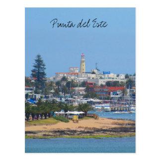 punta del este uruguay postcard