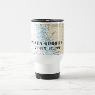 Punta Gorda FL Latitude Longitude Boater's Travel Mug