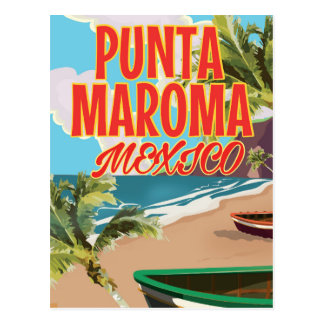 Punta Maroma Beach Mexico travel poster Postcard