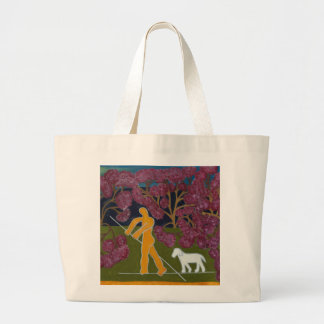 Punting in the River Avon 2011 Large Tote Bag