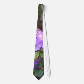 puple azalea flowering bush tie