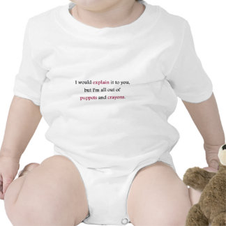 PUPPETS AND CRAYONS BABY BODYSUITS