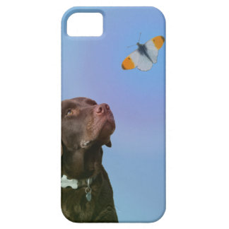 Puppy and Butterfly iPhone 5 Case