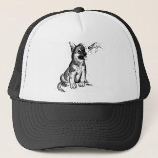 Puppy and Grasshopper Trucker Hat