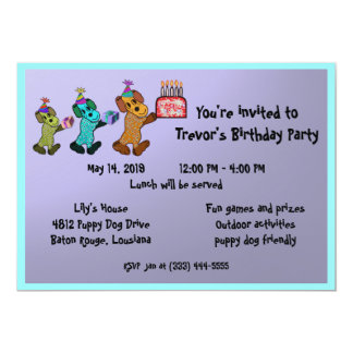Puppy Dog Birthday Invitaiton Invites