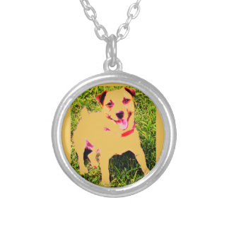 puppy dog, Jack Daniels Silver Plated Necklace