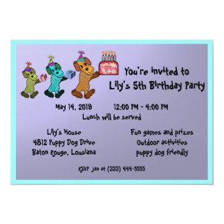 Puppy Dogs Birthday Invitaiton Card