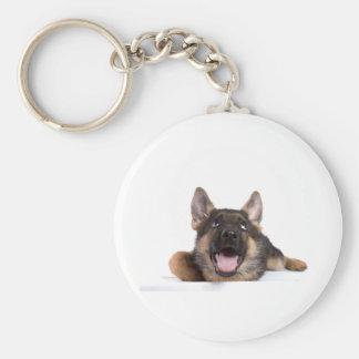 puppy german sheperd key ring