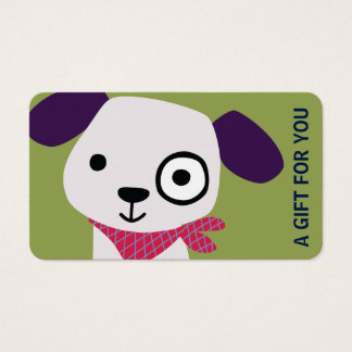 Puppy Gift Card, Gift Certificate, D7-052115 Business Card