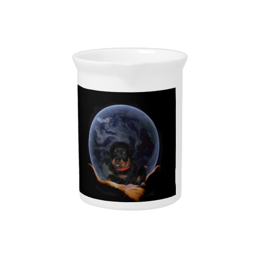 Puppy in the Moon Pitcher