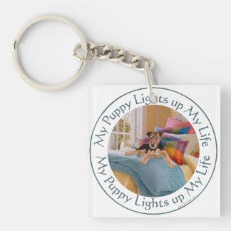 Puppy Lights Up MY Life Key Ring