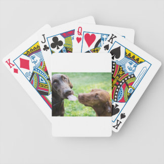 Puppy love bicycle playing cards