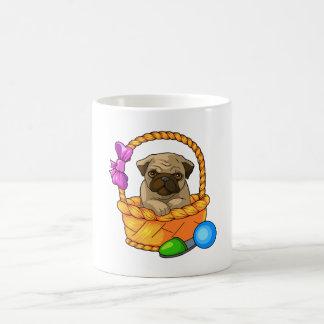 puppy basic white mug