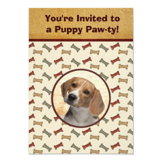 Puppy Party Dog Event Custom Pet Photo Card