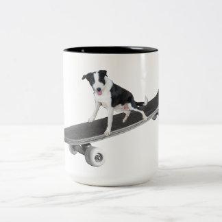 Puppy Skater Two-Tone Coffee Mug