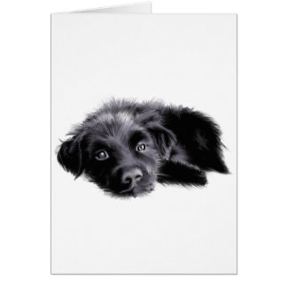 Puppy Sketch Greeting Card