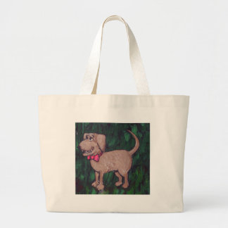 Puppy with a Bowtie Jumbo Tote Bag