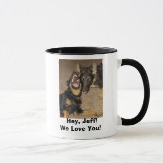 Puppy Yowl,   Hey, Jeff!We Love You! Mug