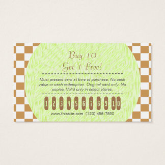 Purchase Punch Card/ U-pick Color White Checkered Business Card