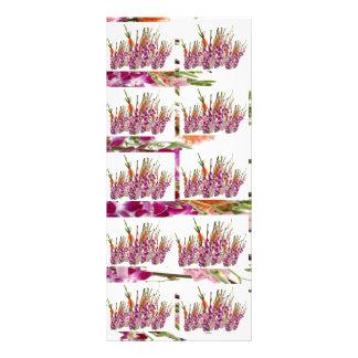 Pure Energy : Exitic Garen Flower Pattern 10 Cm X 23 Cm Rack Card