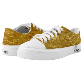 PURE GOLD FOIL Pattern + your text / ideas Printed Shoes