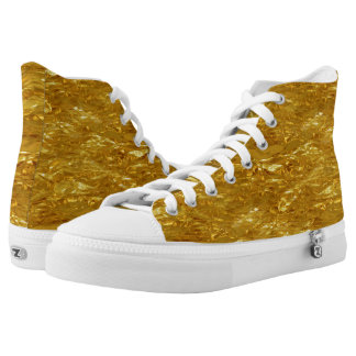 PURE GOLD FOIL Pattern + your text / photo Printed Shoes