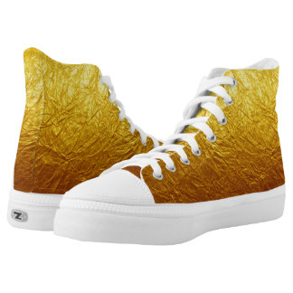 PURE GOLD PAPER FOIL Pattern + your text / ideas Printed Shoes