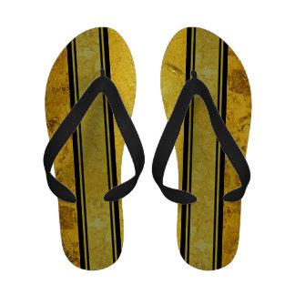 PURE GOLD pattern / gold leaf Flip Flops