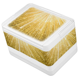 PURE GOLD pattern / golden shower Chilly Bin