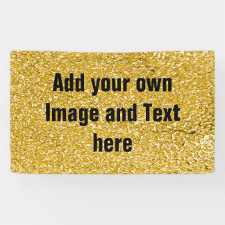 PURE GOLD Splatter Pattern + your text / photo