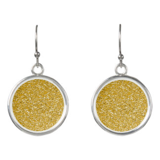 PURE GOLD Splatter Pattern + your text / photo Earrings