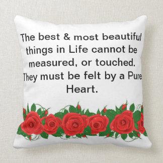 Pure Heart Throw Cushions