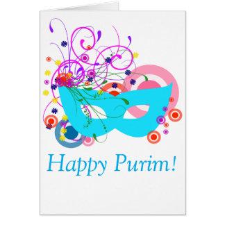 Purim Mask Card