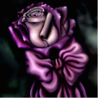 Purle Rose Standing Photo Sculpture
