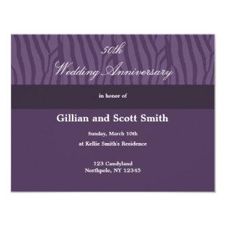 Purple 50th Wedding Anniversary Invitation