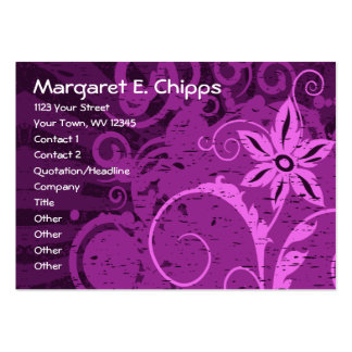 Purple Abstract Floral Business Card