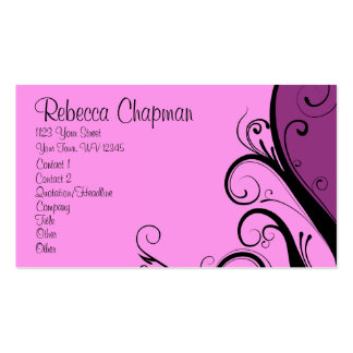 Purple Abstract Floral Business Cards