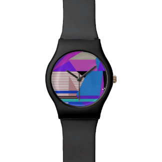 Purple Abstract Geometric Watches