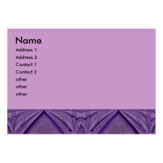 purple abstract pack of chubby business cards