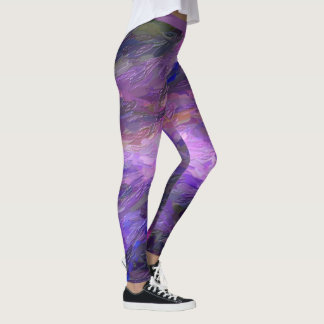 Purple Abstract Paint leggings