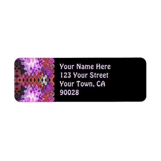 purple abstract return address label