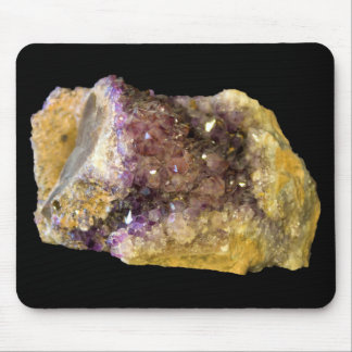 Purple Amethyst Mineral Crystals Photo Mouse Pad