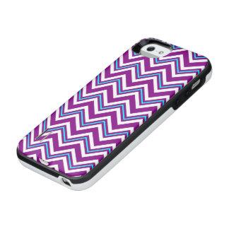 Purple and Aqua Chevron iPhone SE/5/5s Battery Case