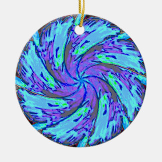 Purple and Aqua Swirl Ornament