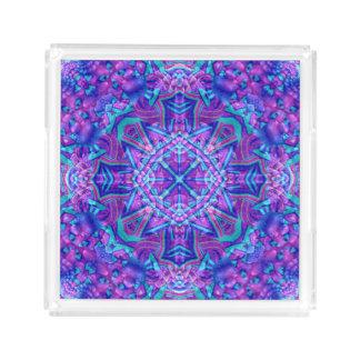 Purple And Blue Acrylic Trays, 2 shapes 4 sizes